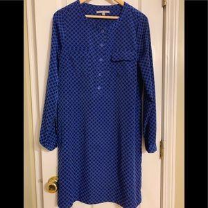 Royal blue and black polka dot Gap Dress
